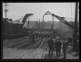 Turntable setting at Southern Pacific, Portland