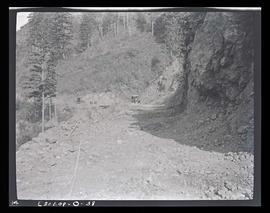 Oak Grove project, view of road at Rock Point above upper dam