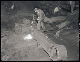Welder at Columbia Steel Casting Company