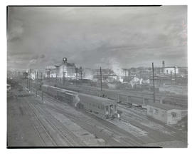 Trains at railyard near Union Station, Portland