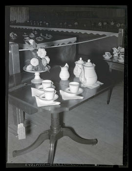 Coffee set and prize-winning camellias