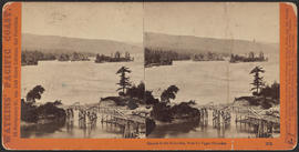 """Islands in the Columbia, from the Upper Cascades."" (Stereograph 1272)"