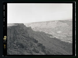 View of valley at Cove Palisades State Park