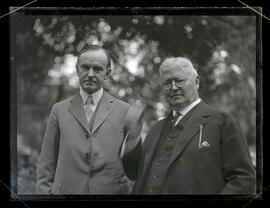 Vice President Calvin Coolidge and Dr. Henry Waldo Coe at groundbreaking ceremony