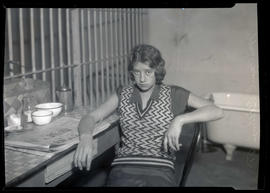 Mrs. Pearl Billings in jail after holdup at service station