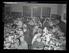 Workers eating at restaurant, Albina Engine & Machine Works, Portland