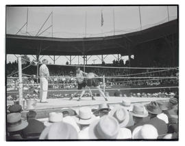 Boxing match at Vaughn Street Park