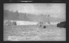 Fishing at Willamette Falls