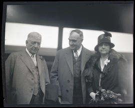 Frank Orren Lowden with George L. Baker and unidentified woman