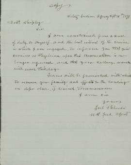 Letter to Doctor Shipley