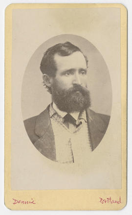 Oliver Dennie portrait of an unidentified man