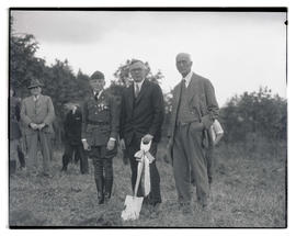 Joseph Allen Hill Jr., Joseph A. Hill, and Joseph W. Hill at Hill Military Academy groundbreaking...