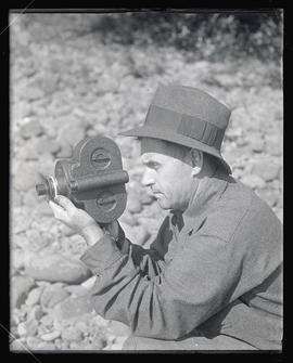 William L. Finley with Camera