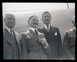 Charles H. Martin, General J. P. O'Neil, and Secretary of War Patrick Hurley