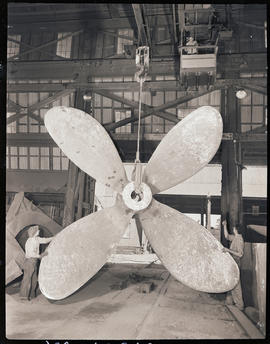 A ship propeller at Columbia Steel Casting Company