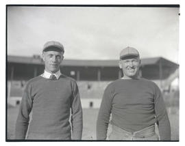 Two men at Multnomah Stadium