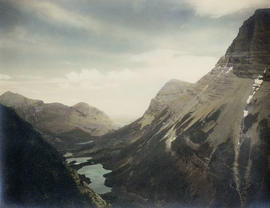 Swift current river, Glacier Park Montana, circa 1910