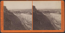 """Mt. Hood and the Passage of the Dalles, Col. River, Or."" (Stereograph E26)"