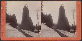"""'The Needles,' View West. Columbia River, Oregon"" (Stereograph E32)"