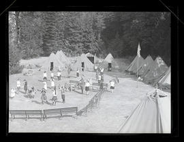 Camp Fire Girls at camp near Carver, Oregon