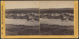 """Panorama of Oregon City and the Willamette Falls. No.2"" (Stereograph 1215)"