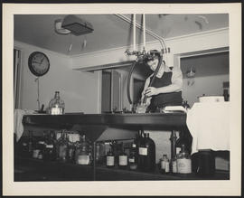 Man in Photography Laboratory, Northwest School of Photography