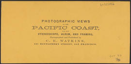 "Verso of, ""Castle Rock, Columbia River."" (Stereograph 1245)"