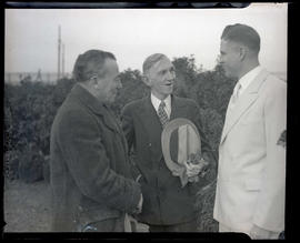 Charles Wakefield Cadman with two unidentified men