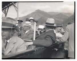 President Franklin D. Roosevelt, Congressman Charles H. Martin, and First Lady Eleanor Roosevelt ...