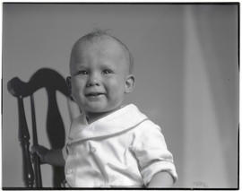 Unidentified toddler on chair, head and shoulders portrait