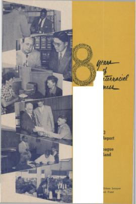 8 Years of Interracial Progress: 1953 Annual Report of the Urban League of Portland