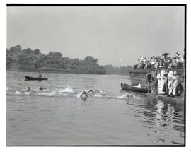 Open-water swimming race