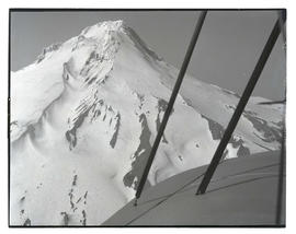 Aerial view, south and east faces of Mount Hood
