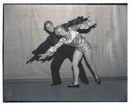 Two tap dancers in costume