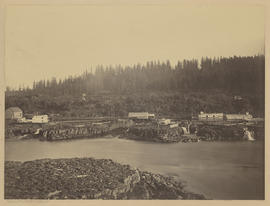 "Panorama ""Oregon City, Upper Basin, Just Below Canemah."" (Mammoth 411)"