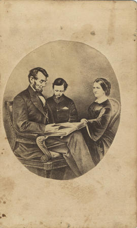 Lincoln, Abraham and wife and son