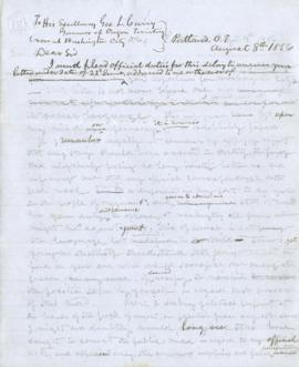 Draft letter to George L. Curry
