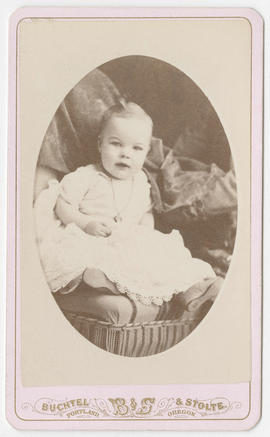 Portrait of an unidentified baby from Buchtel and Stolte Studios