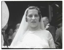 Unidentified bride, head and shoulders portrait
