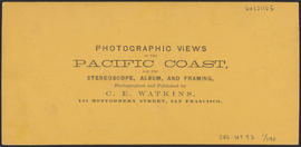 "Verso of, ""The Tooth Bridge, O.R.R. Cascades, Columbia River."" (Stereograph 1299)"