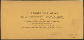 "Verso of, ""J.S. Ruckle, Cascades, Columbia River."" (Stereograph 1252)"