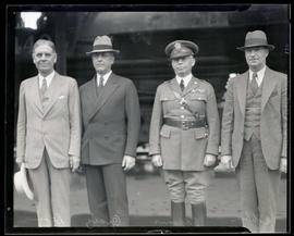 Secretary of War George Henry Dern, Brigadier General James Kelly Parsons, Major General Malin Cr...