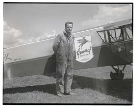 James Rinehart? with General Gasoline airplane