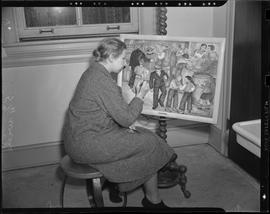 Woman painting as part of WPA project