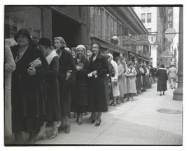 Women waiting in line for 'Sins of Love' at Rialto Theatre, Portland