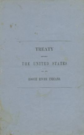 Treaty, U.S. and the Rogue River Indians
