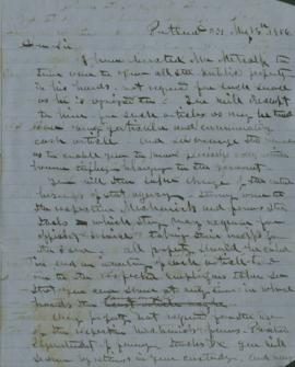 Letter from Joel Palmer to W.W. Maynard