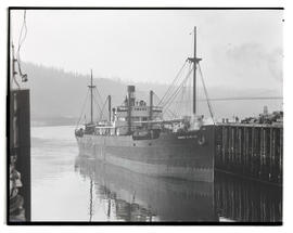 Ernest H. Meyer at pier in Portland