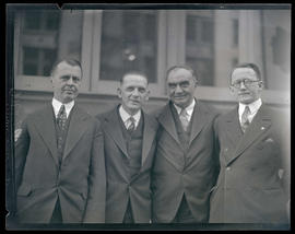 Four mayors?, half-length portrait