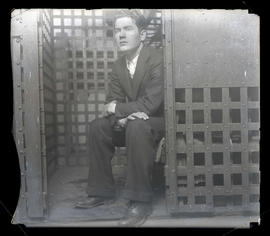 William Edward Hickman in jail in Pendleton, Oregon